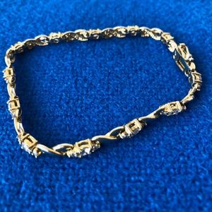 Jewelry - Sterling silver gold plated tennis XO bracelet